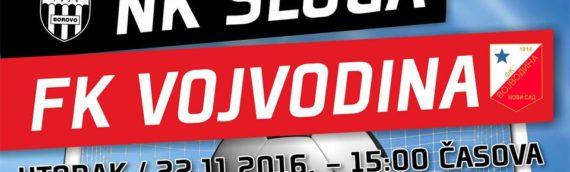 Prijateljska utakmica FK Sloga Borovo – FK Vojvodina Novi Sad